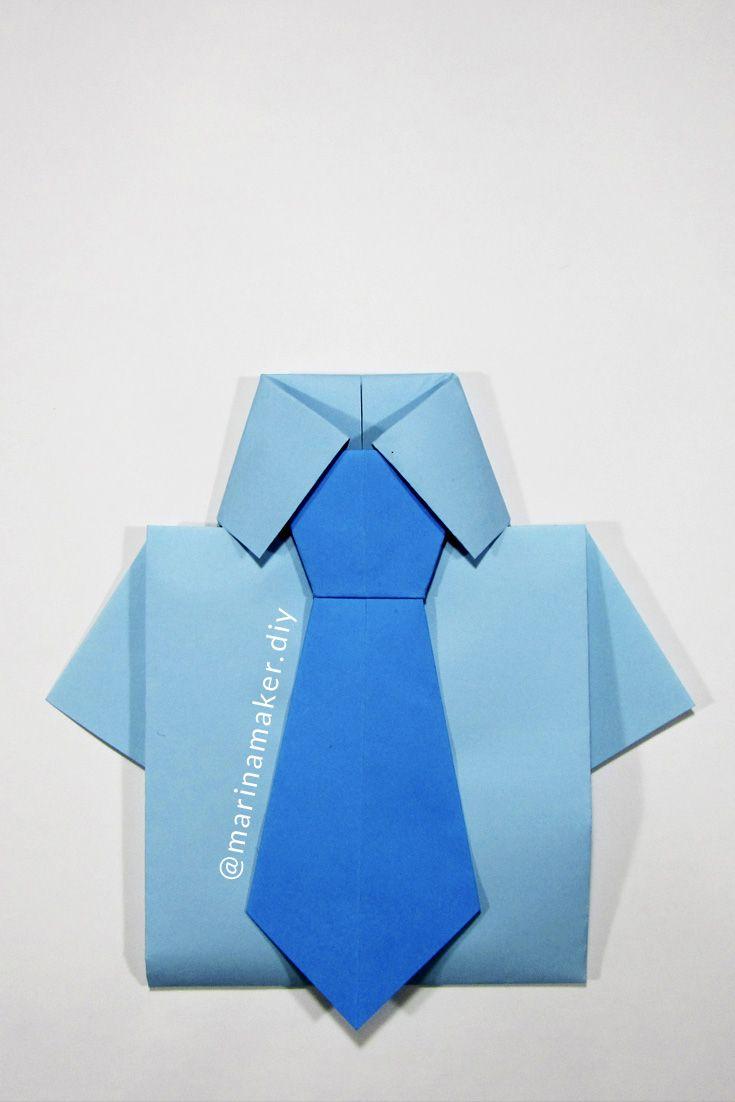 Открытка с галстуком своими руками мастер