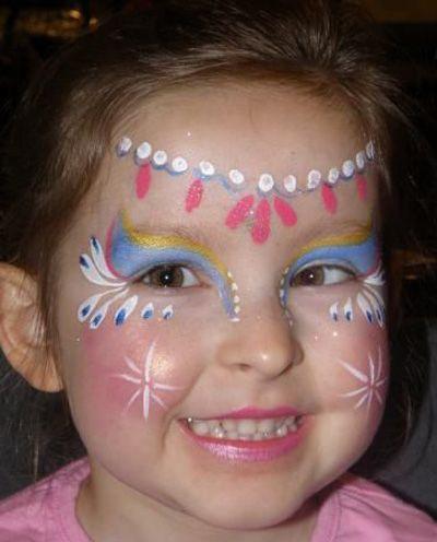 Trucco del viso per Carnevale per bambini da principessa n.6
