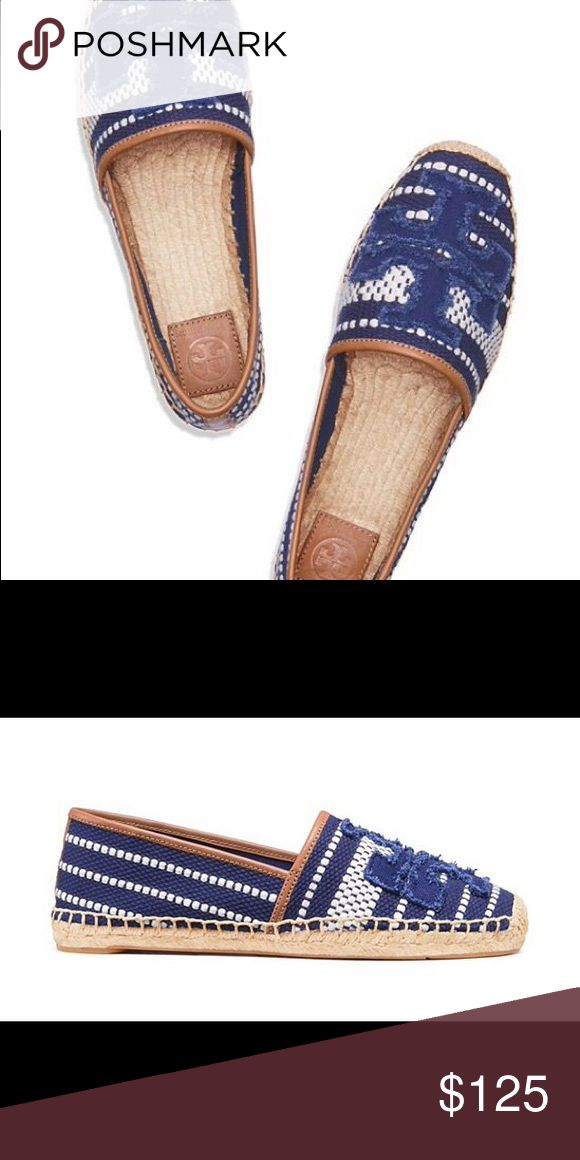 Blue and white Tory Burch espadrilles Flat Tory burch espadrilles. New in the box Tory Burch Shoes Espadrilles