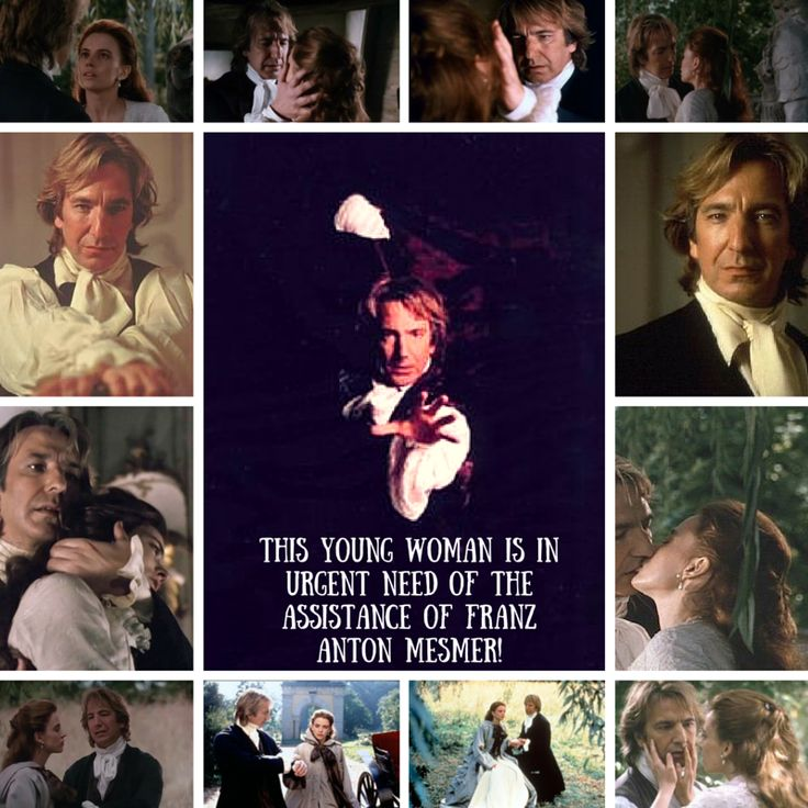 This young woman is in urgent need of the assistance of Franz Anton Mesmer! - Alan Rickman as Mesmer