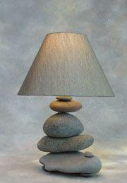 Lake Superior rock lamp