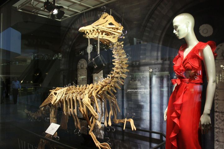 Fabulous idea, and of course amazingly executed!!   Harvey Nichols Jurassic Park windows | Hong Kong