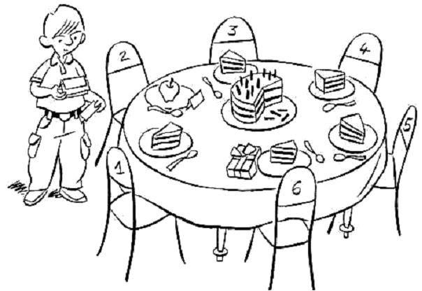 Seules les images utiles à la résolution des problèmes sont présentes : 4.01 Joyeux anniversaire Raymond fête son dixième anniversaire. Il a invité ses meilleurs amis et amies. La table est prête qui accueillera les invités après les jeux : Qui va s'asseoir...