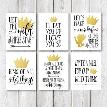 Printable 8 x 10 Birthday Party Sign Set Let The by IslaJoStudio