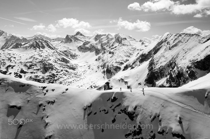 "Backcountry Ski Touring in the Alps - Aerial Image - Aerial image captured with a DJI Phantom 4 Pro. Image available for licensing.  Order prints of my images online, shipping worldwide via  <a href=""http://www.pixopolitan.net/photographers/oberschneider-christoph-a6030.html"">Pixopolitan</a> See more of my work here:  <a href=""http://www.oberschneider.com"">www.oberschneider.com</a>  Facebook: <a href=""http://www.facebook.com/Christoph.Oberschneider.Photography"">Christoph Oberschneider…"