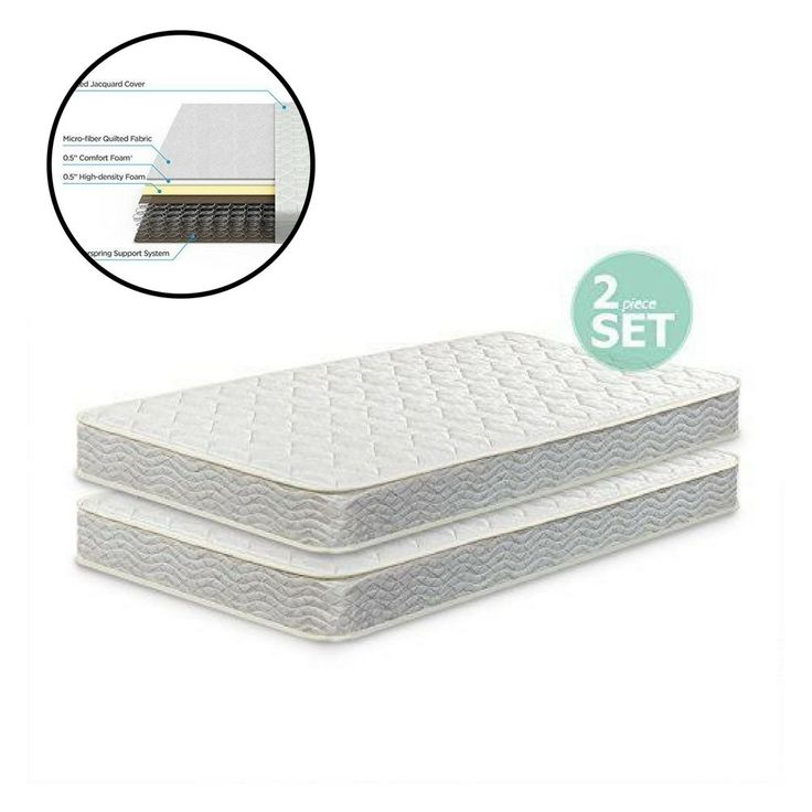 Twin Spring Mattress Set of 2 Pack for Bunk Beds Day Beds and Trundle Beds #Unbranded