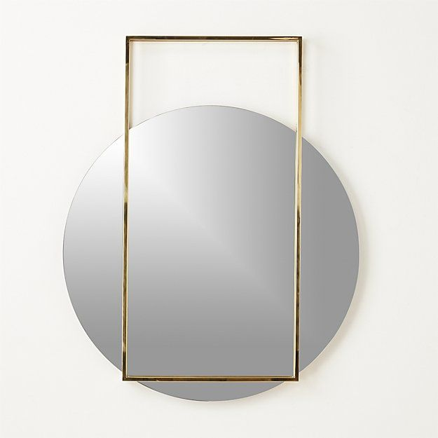 Shop Pendulum Gold Wall Mirror.   A circular mirror appears to hover mid swing in this standout design by Mermelada Estudio.
