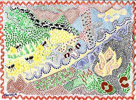 Aboriginal dot painting for kids.