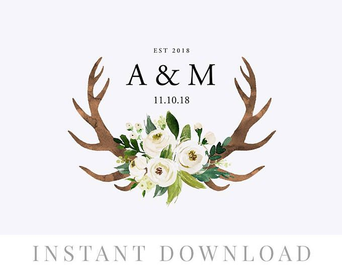 Wedding Wreath Monogram Instant Download Wedding Invite Diy Wedding Monogram Editable Monogram Wedding Logo Wedding Logos Monogram Wedding Wedding Wreaths