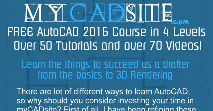 myCADsite has provided FREE AutoCAD training for over 15 years.  I use text, videos and quizzes to teach you what you need to know