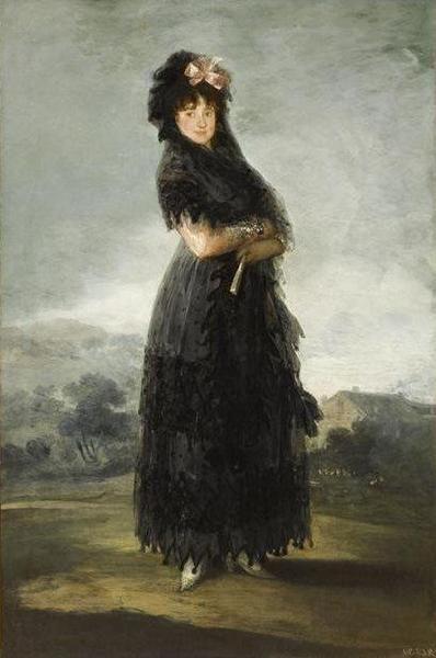 Francisco Goya y Lucientes, Portrait de Mariana Waldstein, neuvième marquise de Santa Cruz, vers 1797-1800, Paris, musée du Louvre, © RMN - © Stéphane Maréchalle - utilisation soumise à autorisation