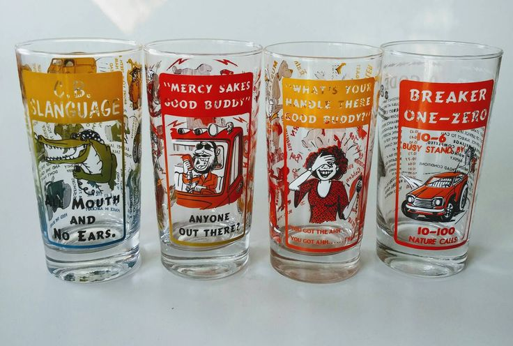 Truck Driver Gift | Novelty Drink Glasses, CB Radio Jargon, Trucker Slang, Kitsch Trucker Novelty Gift, Father's Day Trucker Barware by Jimpiphanys on Etsy