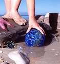 Finders Keepers. An event that Lincoln City does through Mid October to Memorial Day. They Place hand crafted glass floats along 7 1/2 miles of public beach from the Roads End area to the Culter City area. You find one you get to keep it
