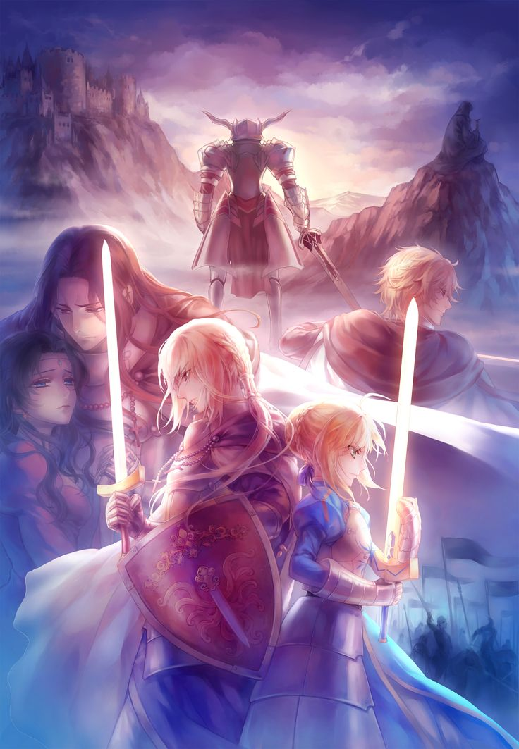 Saber & Bediviere & Lancelot & Gawain & Mordred