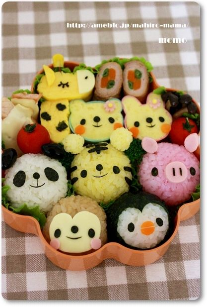 so cute rice ball for kids lunch