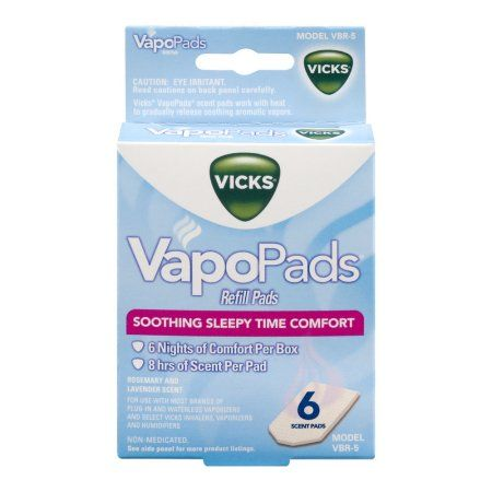 Vicks VapoPads Refill Pads Soothing Sleepy Time Comfort Scent Pads - 6 CT, White