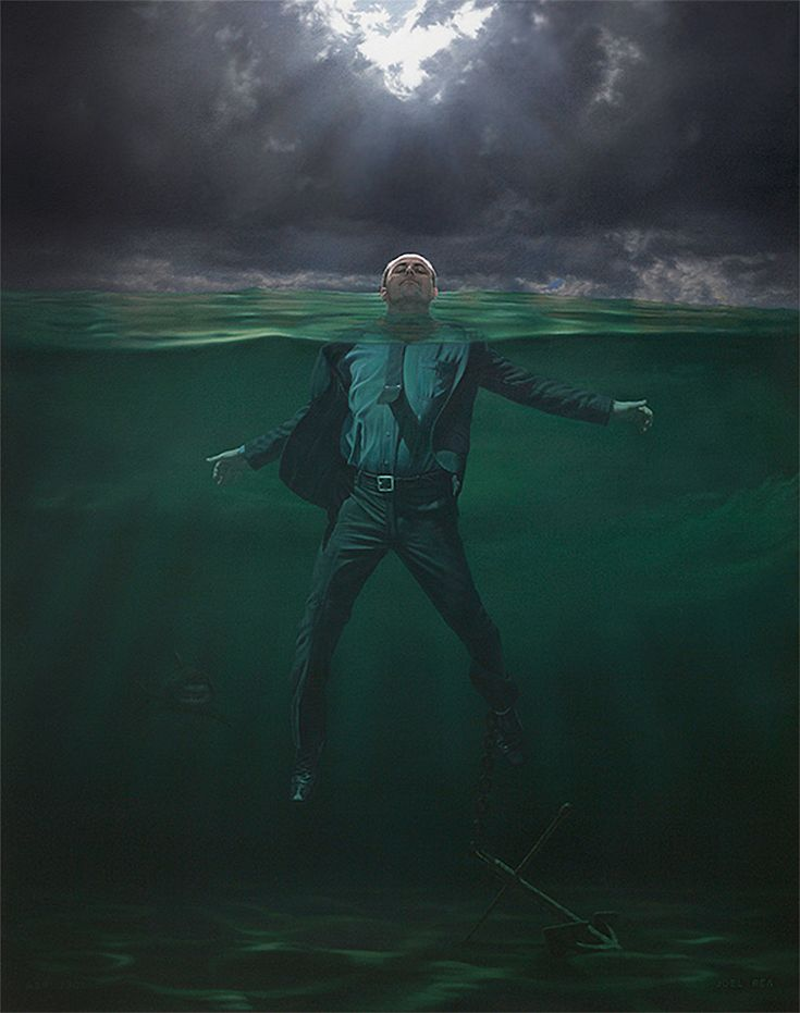 """Recent work by contemporary surrealist Australian artist Joel Rea. """"Wikipedia describes Contemporary art as having developed from Postmodern art and although Joel Rea is very much alive and is dealing with issues of our present time, his work is far removed from the multimedia and purely conceptual work that has come to define Postmodernism and much of what is referred to as Contemporary art. To me Rea's work moves in separate direction, one that is reconstructive, or Post Contemporary..."""