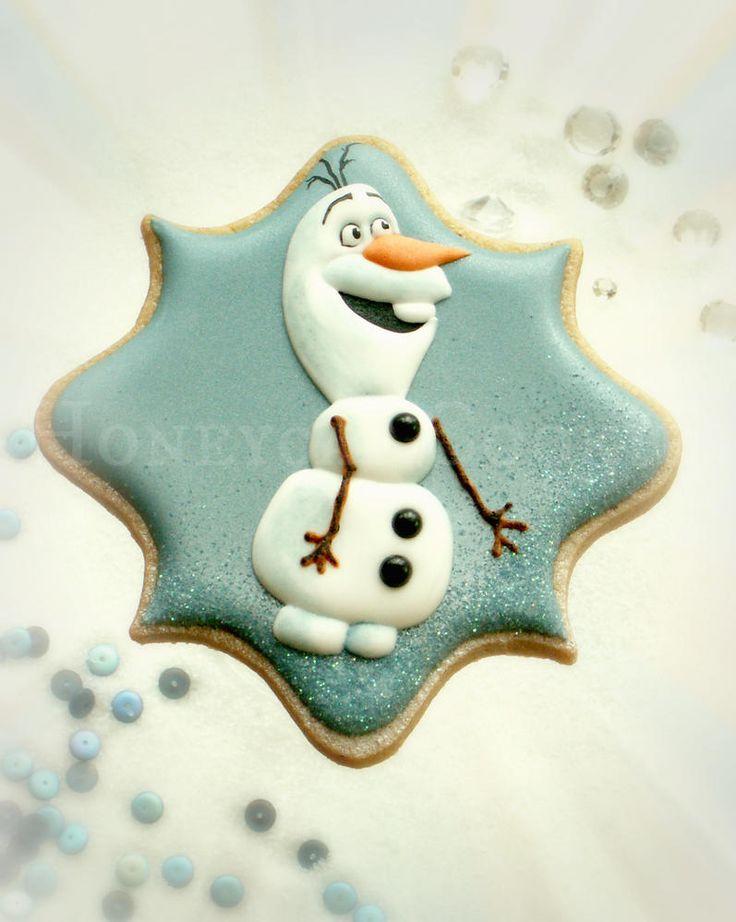 Olaf from Frozen Cookie http://www.honeycatcookies.blogspot.co.uk