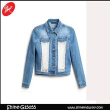 2015 Fashion Style Women Jeans Frayed Bud silk Denim Jacket  Best Seller follow this link http://shopingayo.space