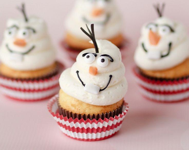 Cupcakes als Olaf der Schneemann gestalten