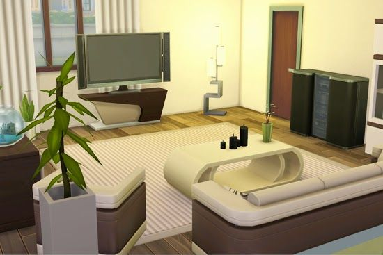 17 best images about sims 4 cc on pinterest room kitchen for Modern living room sims 4
