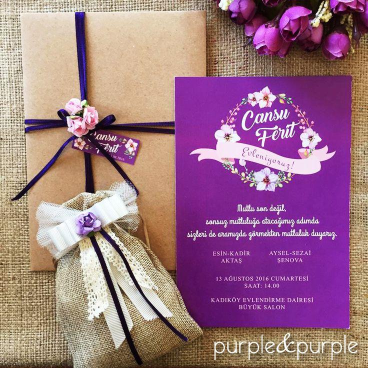 2016 Düğün Davetiye Modelleri | Purple & Purple