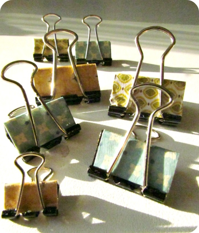 Mod Podge your binder clips.  Package up a variety of sizes for the girls in the office.