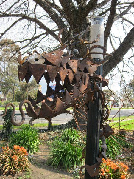 Large Dragon Garden Sculpture. Metal Garden ArtMetal ...