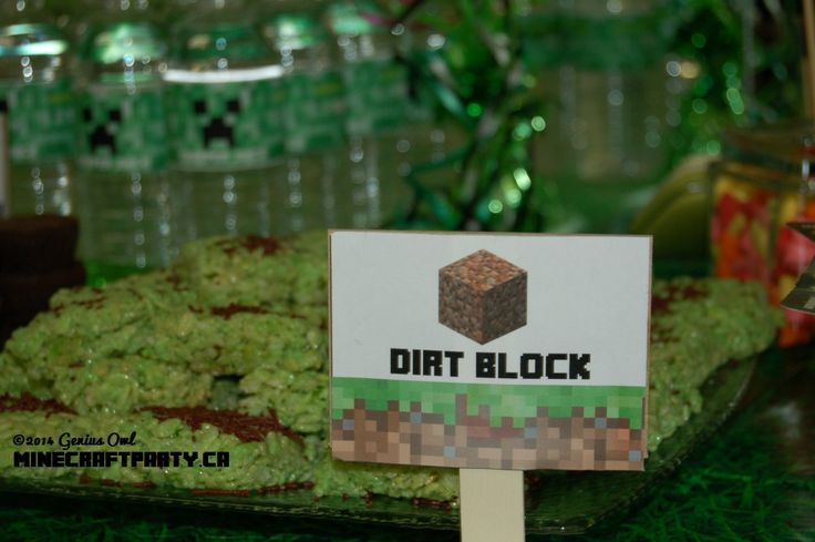The most delicious dirt block in the world! (one of the decorative/snack items in Genius Owl Minecraft Parties in Richmond Hill, ON)