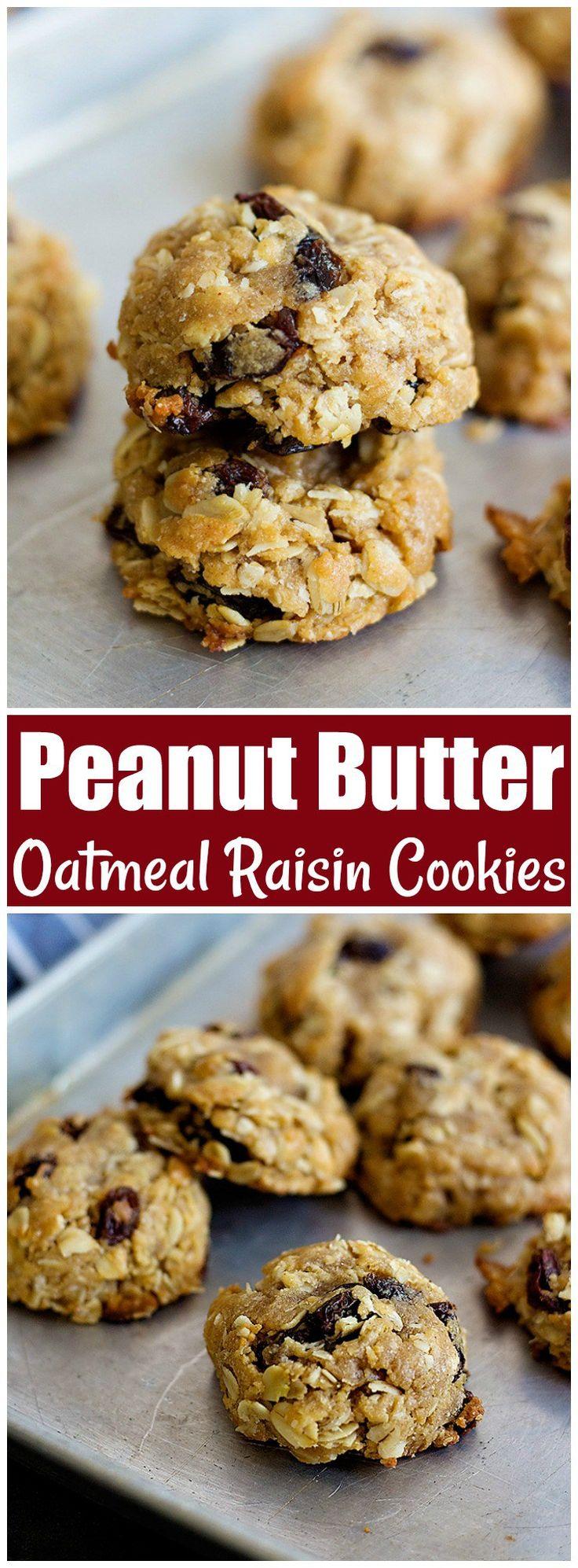 Peanut Butter Oatmeal Raisin Cookies | Peanut butter cookies | Oatmeal Raisin Cookies | Peanut Butter Oatmeal Cookies | #ChristmasCookies #ChristmasBaking #CookieRecipe