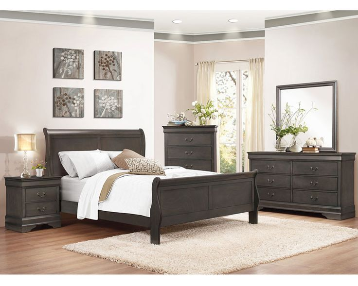 Queen Bedroom Set 2147SG-QBS Mayville-Stained Grey, Furniture Factory Direct Bedroom Furniture | Queen Bedroom Sets