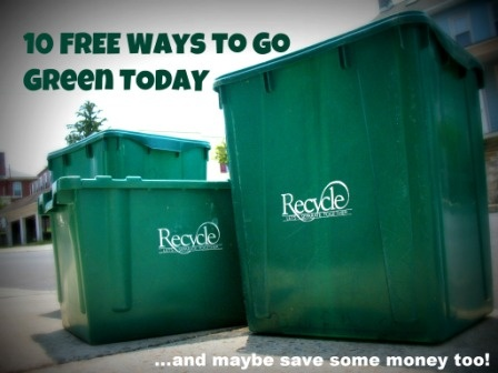 10 Free Ways to Go Green Today #spense