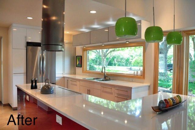 Before after jeanne richard 39 s danish modern kitchen - Modern kitchen windows ...