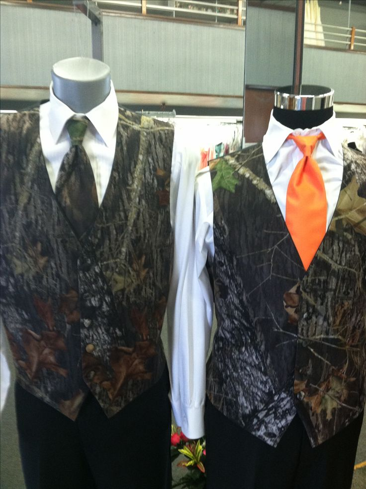 Camo Tuxedo- cute for a country wedding or prom theme Jim's Formal Wear- Paris Bridal and Formal Outlet