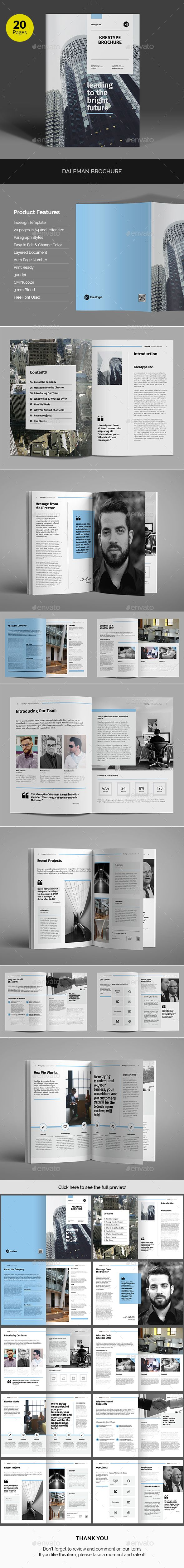 Kreatype Company Brochure Template InDesign INDD. Download here: https://graphicriver.net/item/kreatype-company-brochure/17328697?ref=ksioks
