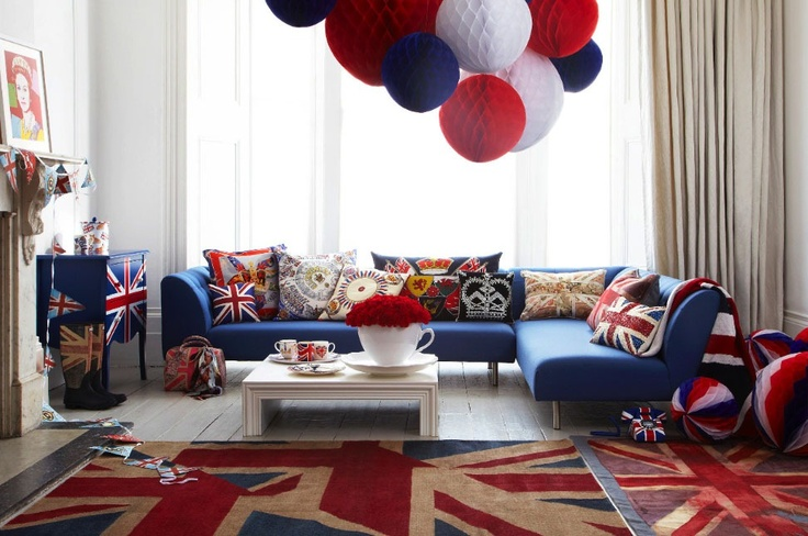 A very British room