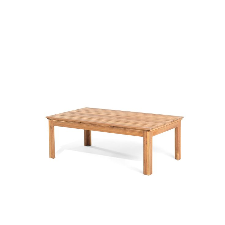 beliani patio set acacia wood pacific natural size 4piece