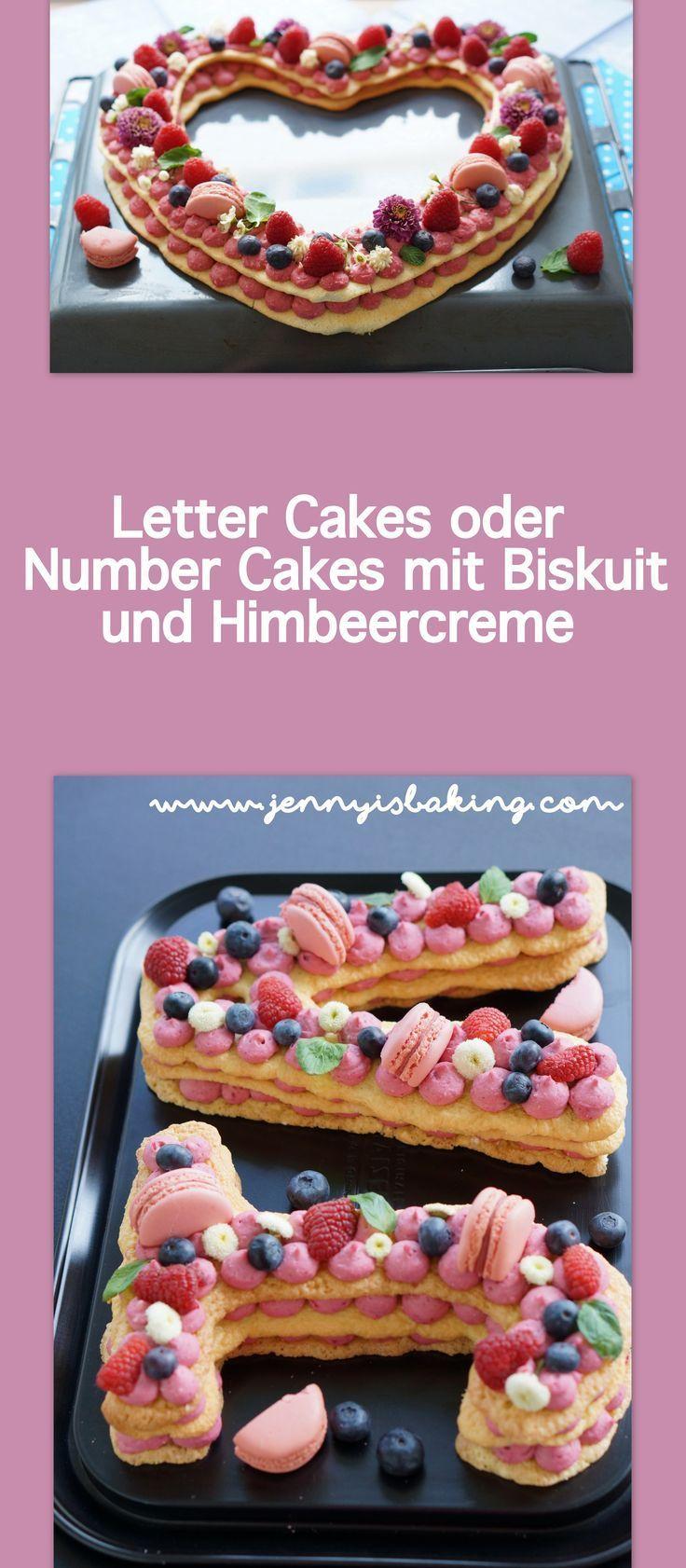 Warum Ich Den Letter Cakes Doch Noch Mal Eine Chance Gab Jenny Is Baking Rezept Himbeercreme Himbeeren Anzahl Kuchen