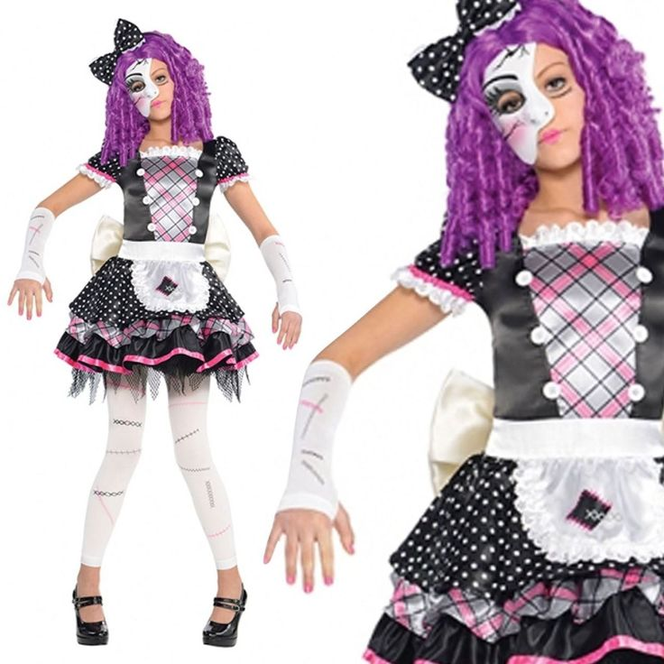 fancydressvip - Damaged Broken Creepy Doll Fancy Dress Costume, £16.99 (http://www.fancydressvip.com/halloween/girls-halloween/teens-damaged-broken-creepy-doll-fancy-dress-costume/)