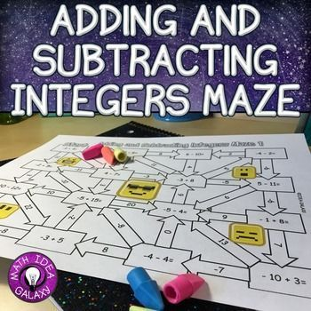 Integers Maze is a fun and quick way to practice adding and subtracting integers that can be used as classwork, homework, or assessment. Students love solving problems with integers in a novel way, and these mazes are perfect for getting those extra repetitions in!Includes: 2 mazes with addition and subtraction of positive & negative integers and answer keys.