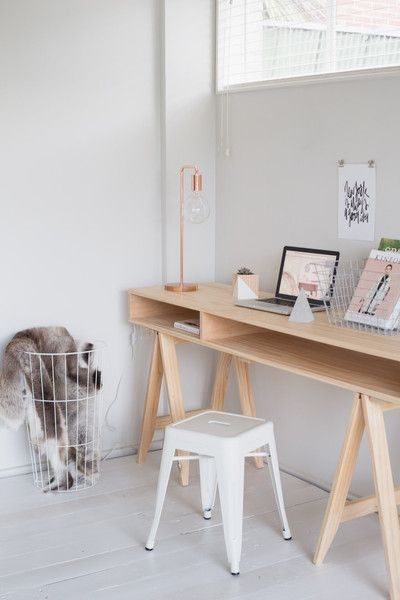 Bringing all things cubby and trestle together.It's our trestle desk with a bit more storage space, and for even more add a pine shelf. Handmade / L1200/1500 x
