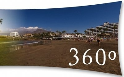 360° view of the coastline at Adeje, Tenerife
