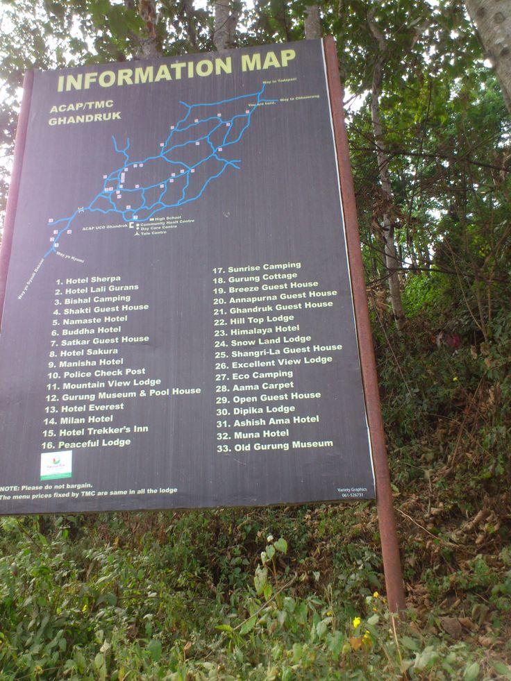 Ghandruk Map #trekking #Gurung #village #Ghandruk #Ghandrung #hospital #travel