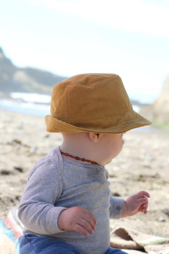 ad98293dd2d Mustard Corduroy Baby Fedora Sun Hat for Boys and Girls | Boy's Clothes |  Baby boy sun hat, Baby sun hat, Baby boy hats