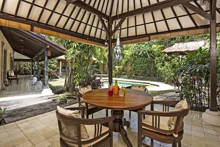 Villa 2 dining room at Villa Kubu, Seminyak, Bali