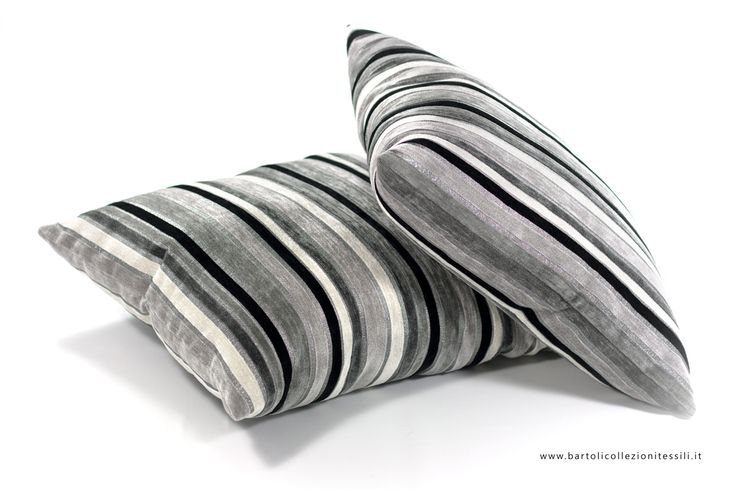 Black white grey pillows #stripes