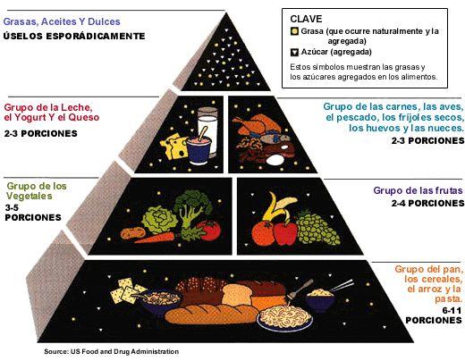 Diabetes Mellitus. Piramide de alimentación saludable