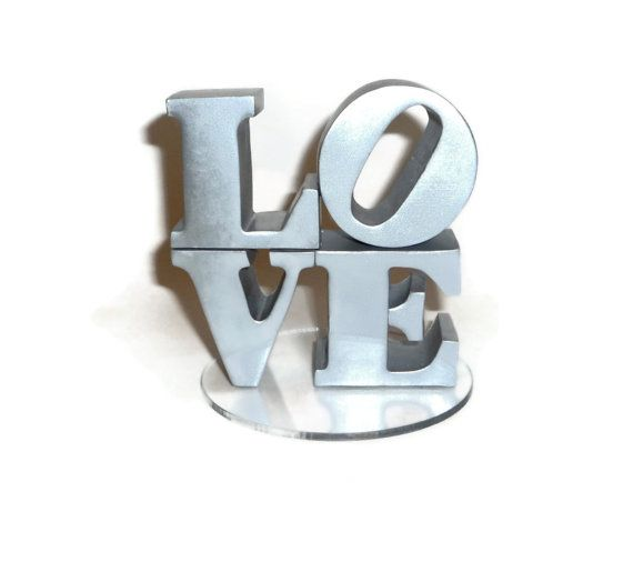 Our Robert Indiana replica cake topper! <3: Wedding Inspiration, Wedding Cake Toppers, Cakes Ideas, Love Cakes, Etsy, Awesome Wedding Cakes, Fabrics Swatch, Statues Cakes, Wedding Cakes Toppers