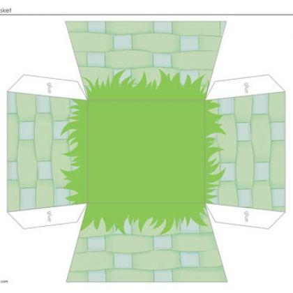 Paper Craft: Easter Basket: Paper Craft, Basket Crafts, Easter Crafts ...