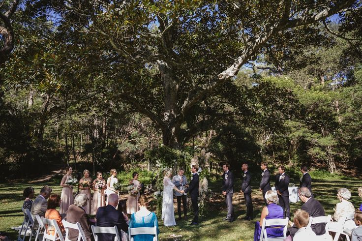 Jon + Julie Wedding Ceremony - Audley Dance Hall, Fig Tree Flat.